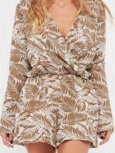 PLAYSUIT WITH WRAP TOP