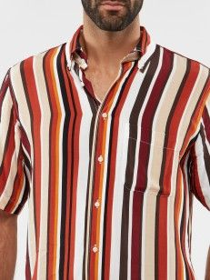 SHORT SLEEVE SHIRT WITH STRIPES