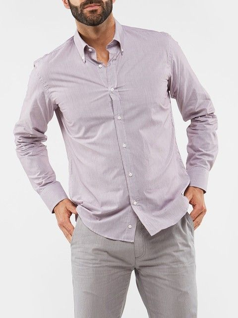 LONG SLEEVE SHIRT WITH FINE STRIPES
